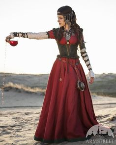 Halloween or Renaissance Festival: $646 Steampunk Dress with Corset and Chemise Costume The by armstreet