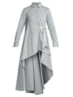 Waterfall-hem striped-cotton shirt | Palmer//harding | MATCHESFASHION.COM US