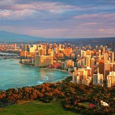 Beautiful landscape of Waikiki.. #honolulucitylights #staycation