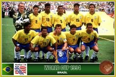 Brazil team group at the 1994 World Cup Finals.