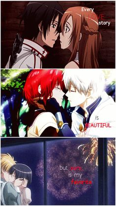 Sword Art Online, SNow White with the Red Hair, and Kaichou wa Maid sama