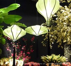Fabulously chic lighting idea for an elegant and sophisticated outdoor space or garden retreat.