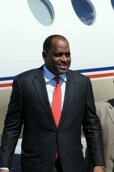 Roosevelt Skerrit, Primer Ministro de Dominica, a su llegada al Aeropuerto Internacional José Martí, en La Habana, Cuba, el 27 de enero de 2014, para participar en la II Cumbre de la Comunidad de Estados Latinoamericanos y Caribeños (Celac). AIN FOTO/Omara GARCÍA MEDEROS
