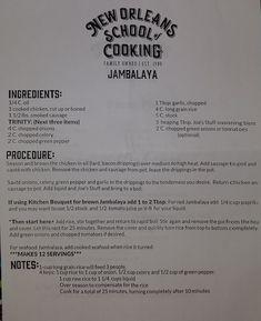 New Orleans School of Cooking - Jambalaya Long Grain Rice, Cajun Food, Cajun Recipes, Soul Food, New Orleans, Mardi Gras Food, Cooking, Louisiana, Kochen