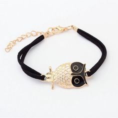 LIMITED TIME ONLY! Get your Owl Charm Bracelet today! Proceeds of every sale go to the World Wildlife Fund (WWF)! Limit: 5 items per order Bracelets Type: Charm Bracelets Chain Type: Rope Chain Clasp