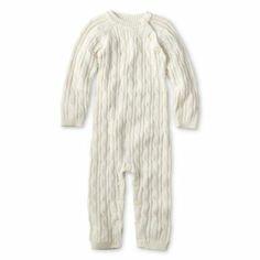 Sweet white jumper for baby