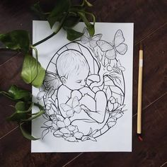 Pregnancy Drawing, Pregnancy Art, Pregnancy Journal, Pregnancy Signs, Line Art Flowers, Flower Art, Printable Coloring Pages, Adult Coloring Pages, Handout