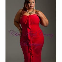 New Plus Size Strapless Long Dress with Ruffled Middle in Red