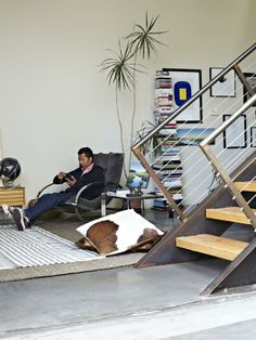 Rocking Out - Urban Spaces: Industrial Modern Los Angeles Loft on HGTV