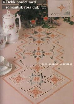 Hardanger tablecloth color .................................. .....