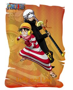 Luffy and Law by orochimarusama1 on deviantART