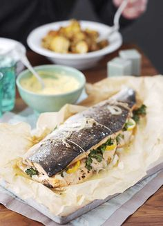Not just an ordinary roast salmon - this lovely fish dish is packed with lemon, parsley, dill and tarragon for maximum flavours.