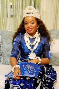 "A Kalabari or '' Ijaw "" bride, from the Niger-Delta area of Nigeria Ijaw bride"