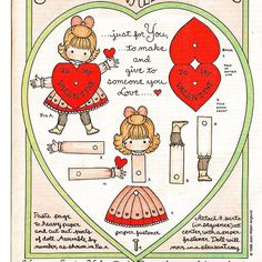 Vintage Valentine paper doll    From Good Housekeeping magazine.