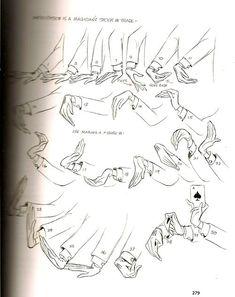 secuencia de dibujo de las manos