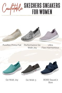 There's a reason why Skechers are so popular—they're super comfy and adorable, yet practical. TFG readers help us round-up the best Skechers walking shoes for women! #TravelFashionGirl #TravelFashion #TravelShoes #comfyshoes #practicalshoes #adorableshoe Travel Outfits, Travel Shoes, Skechers Sneakers, Comfy Shoes, Dress For Success, Winter Shoes, Walking Shoes, Travel Style, Capsule Wardrobe