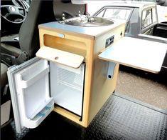 20 Cheap and Easy DIY Mini Van Camper Conversion – Vanchitecture - van life Interior Kombi, Van Interior, Interior Design, Kombi Trailer, Camper Trailers, Tiny Trailers, Rv Campers, Travel Trailers, Mini Camper