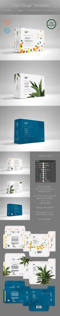 3 Box Design Template Vector EPS, AI. Download here: http://graphicriver.net/item/3-box-design-templates/13356496?ref=ksioks