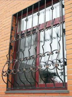 Grilles en fer forg de d fense modernes mod le gdm05 m daillon g om trique antivol fenetre for Fenetre en espagnol