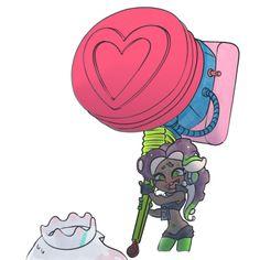 The Ultra Stamp is terrifying. Splatoon 2 Art, Splatoon Comics, Splat Tim, Pearl And Marina, Nintendo, Pokemon, Cartoon Crossovers, Zine, Cute Drawings