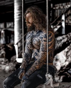 They say: Do what you love and the money will come to you. Just ordered pizza, now I am waiting… 🍕 Happy Easter weekend my friends! Hot Guys Tattoos, Boy Tattoos, Badass Tattoos, Body Art Tattoos, Male Tattoo, Real Vikings, Sexy Tattooed Men, Cool Hairstyles For Men, Long Hairstyles