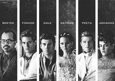 Beetee, Finnick, Gale, Katniss, Peeta, Johanna
