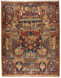 "Older Kashmar carpets could mainly be found in coarser qualities and in the ""Herati Design"" (stylised fish theme), which it acquired from the carpets …"