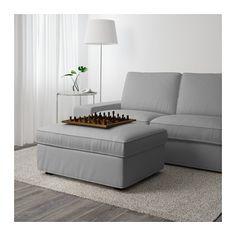 KIVIK Voetenbank met bergruimte - Orrsta lichtgrijs - IKEA