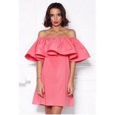 Платье с воланом на плечах - 450 грн! Бесплатная доставка по Украине! #grogroshop