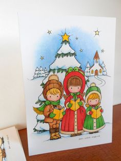 Joan Walsh Anglund Christmas Cards w/ by BrightShinyPennies, $12.00
