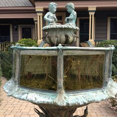 Entrance to Cass House. There's goldfish inside of this fountain!!