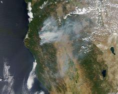 NASA satellite image shows smoke from wildfires burning in California
