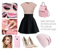 """""""Pink"""" by stardusty1 ❤ liked on Polyvore featuring Chicwish, Sophia Webster, Dolce&Gabbana, Phase 3, Charlotte Tilbury, Pink, black, beautiful, beoriginal and pinkandblack"""