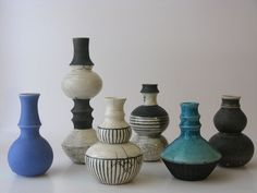 Lene Jacobsen raku vase - turquoise