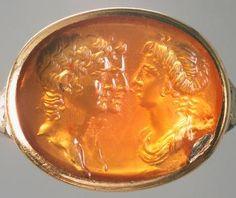 Glyptik ring: Roman portrait busts, ca 4th century AD                                                       Gemme: Porträtbüsten                             Römisch,                                    Frühe Kaiserzeit                                    4 - 5 n. Chr.