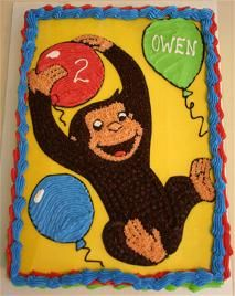 Oh my gosh Caroline would LOVE this one!!!  Me too!!! Curious George Cake