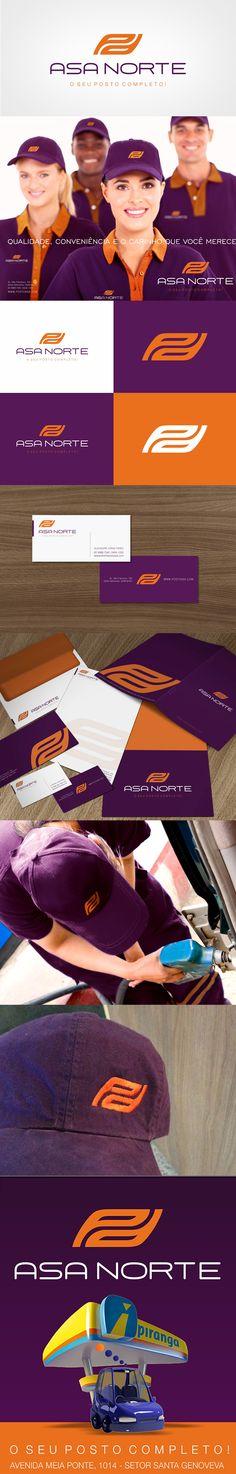 Posicionamento da marca Posto Asa Norte - Projeto: Branding (marca / identidade corporativa / PDV / MKT) designer: Priscila Áquila