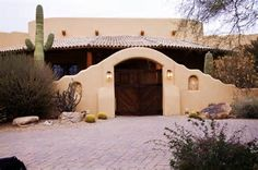 Spectacular Semi-Custom Santa Fe Style Home! Professional Grade Appliances Stay With The House. Travertine Flooring Throughout. All But One Bathroom Hav. Spanish Style Homes, Spanish House, Southwestern Home, Southwest Style, Santa Fe Home, New Mexico Homes, Mud House, Hacienda Style, Mexican Hacienda