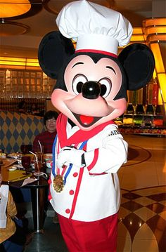 Chef Mickey is going to fix breakfast for Ava & Papa the last day we will be there