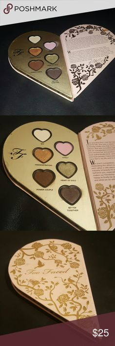 Too faced better together eye palette limited edit This is only the too faced side if the better together palette all colors have been swatched super full no box there is a tiny Blemish as shown in the last photo no holds no trades reasonable offers welcome if you have any questions ASK before you buy Too Faced Makeup Eyeshadow