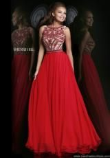 Sherri Hill 11146.  Available in Nude, Red, Royal