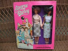 """Laverne & Shirley Dolls 1977 Mego RARE   eBay- I asked for these, my mom even made clothes with an """"L"""" on them for the dolls, she went back to the store to get them... They were sold out.... : ( KR"""