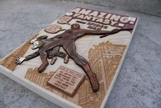 Okay... this is amazing... A 3D wooden comic cover. Makes me really want a laser cutter.