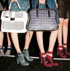 2013 Fall Fashion Week purses and shoes #fallstyle #fallfashion