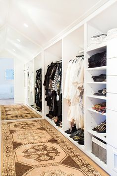 How To Get The Amber Lewis Signature Look   Vintage Turkish Rugs In Walk In  Closet