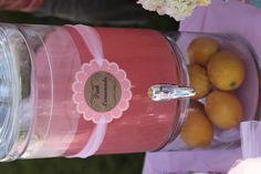 Shabby Chic Pink Lemonade Dispenser