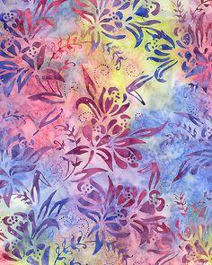 Island Jewel Flower Batik -Quilt Fabrics from www.eQuilter.com