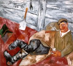 "Михаил Ларионов "" Отдыхающий солдат"" 1911"