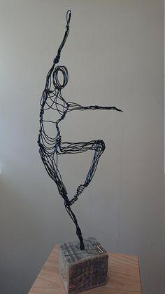 Paul Joyner Sculpture Studio Ballet Dancer Wire Sculpture