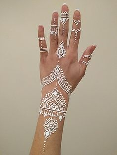 Mehndi heart two hands